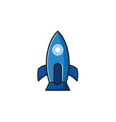 rocket creative logo design inspiration vector image