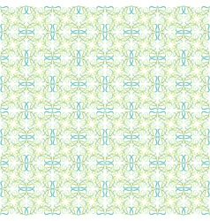 Seamless pattern of green leaves or hearts vector image