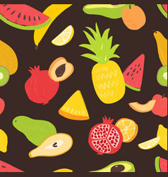 seamless pattern with sweet tasty organic ripe vector image