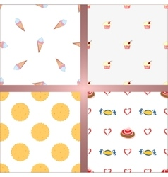 Set of four seamless backgrounds vector image