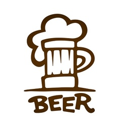 Sign of mug with beer vector image