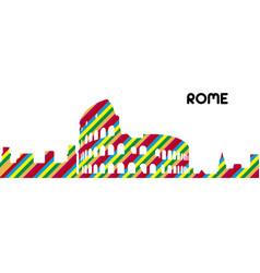 skyline of rome vector image
