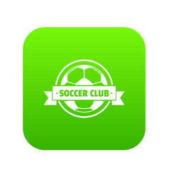 soccer icon green vector image