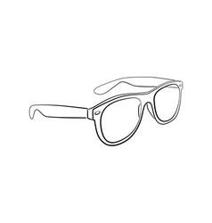 sunglasses outline isolated vector image