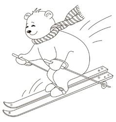 Teddy-bear skies contours vector