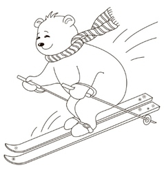 teddy-bear skies contours vector image
