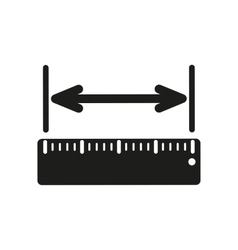 The width measurement icon Ruler and straightedge vector image