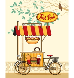 Trolley wheel for fast food vector