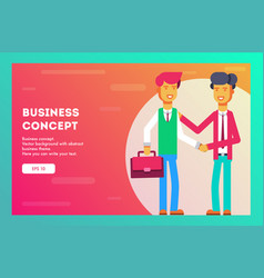 two businessman two persons are shaking hands vector image
