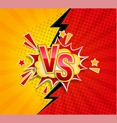 versus competitive concept in comic style vector image