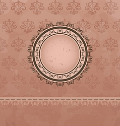 Vintage background with floral medallion vector image