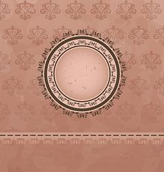 Vintage background with floral medallion vector