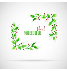 Watercolor florals vector image