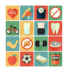 flat icons health vector image vector image