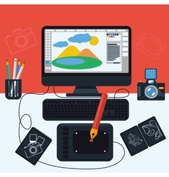 Program for design and architecture vector