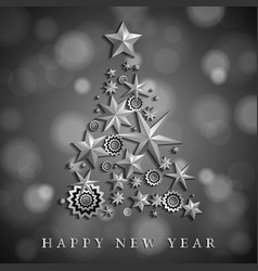 christmas and new year abstract with christmas vector image vector image