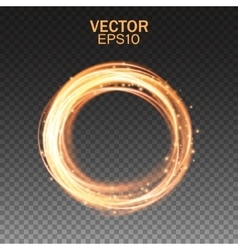 Glow light effect Magic gold circle Gold round vector image vector image