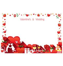 Love border frame vector
