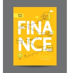 Modern infographic of finance concept vector image
