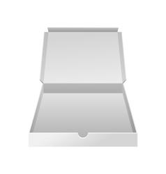 Empty white small box realistic vector image vector image