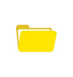 flat design style of open folder icon on white vector image