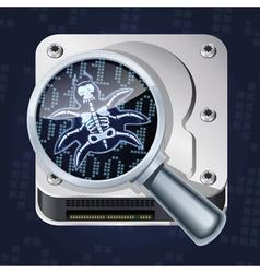 HDD bug vector image