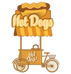 hot dog on wheels vector image vector image