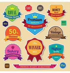 Set of retro vintage sticker badges and labels eps vector image vector image