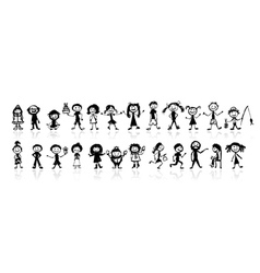 24 drawing peoples vector image vector image