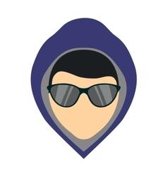 Criminal man vector image