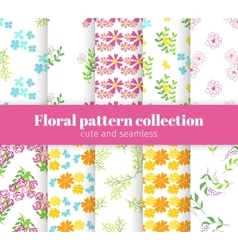 Floral patterns collection vector image vector image