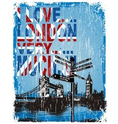 love london vector image vector image