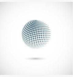 abstract dotted halftone planet vector image