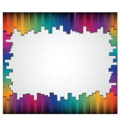 Abstract straight lines with blank board vector image