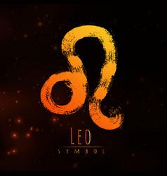 Abstract zodiac sign leo on a dark cosmic vector