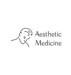Aesthetic medicine icon with young man vector