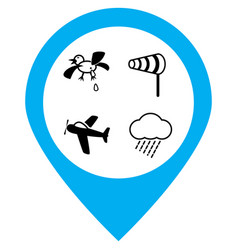 air dangers icons set vector image