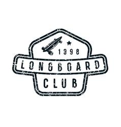 badge longboard club vector image