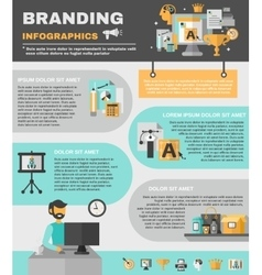 Branding infographics set vector