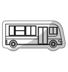 Bus transport urban public outline vector