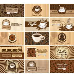 cards on coffee vector image