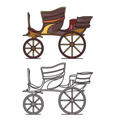 Carriage for wedding vintage vehicle for person vector