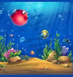 Cartoon background vector
