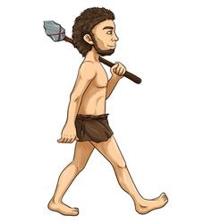 Cave Man vector image