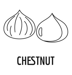 Chestnut icon outline style vector
