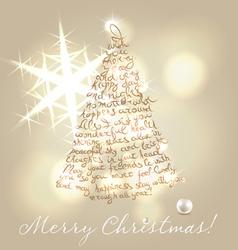 Christmas wishing post card vector image vector image