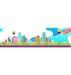 City landscape horizontal day vector