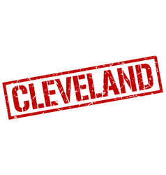 Cleveland red square stamp vector