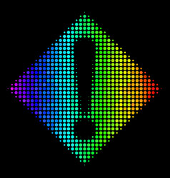 colored dotted warning icon vector image