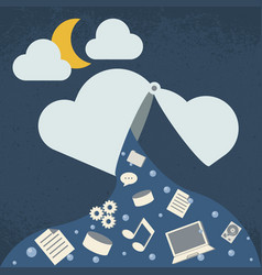 data leak cloud computing technology vector image